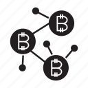 bitcoin, blockchain, connect, network icon
