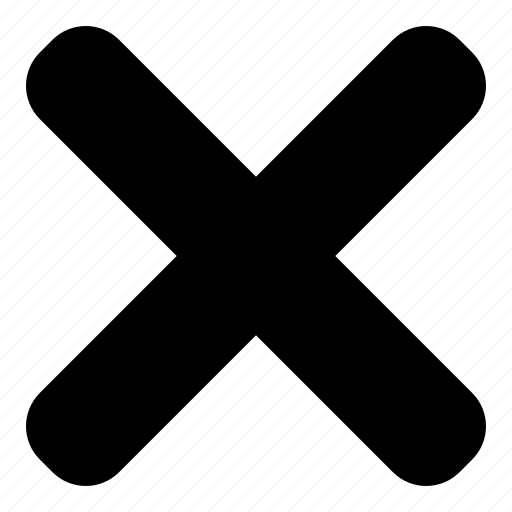 cancel, close, no icon