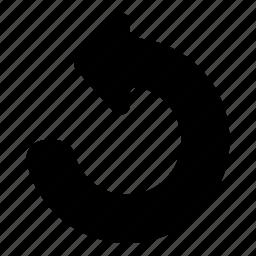 reverse, undo icon