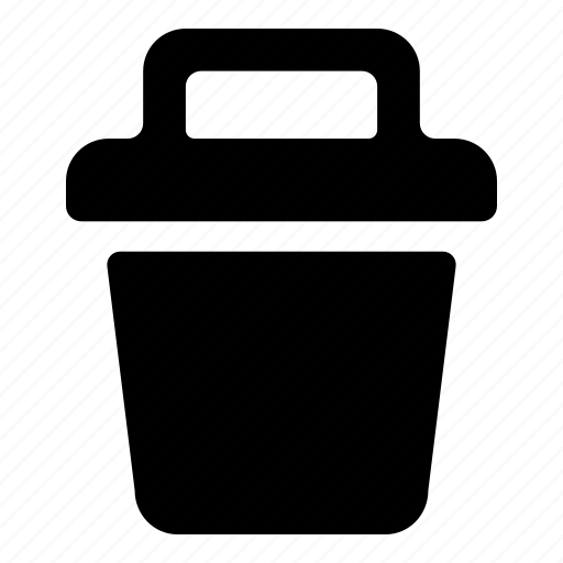 bin, delete, garbage, trash, trashcan icon