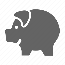 currency, finance, money, pig, solid, stock icon