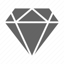 currency, diamond, finance, money, solid, stock icon