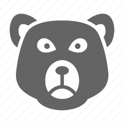 bear, currency, finance, money, solid, stock icon