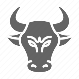 bull, currency, finance, money, solid, stock icon