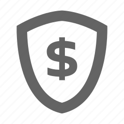 currency, finance, money, shield, solid, stock icon