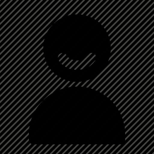 friendly, smile, user icon