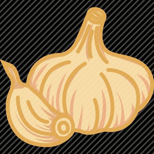 garlic, garlic paste, vegetables icon icon