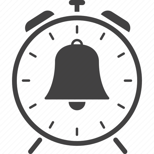 alarm, alert, attention, bell, clock, sign, warning icon