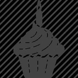 birthday, cake, candle, celebration, cupcake, pie icon