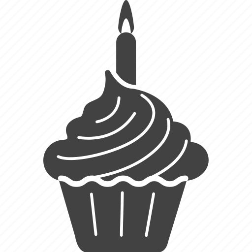birthday, cake, candle, celebration, cupcake, pie icon