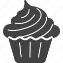 cake, celebration, cupcake, dessert, food, ice cream, muffin icon