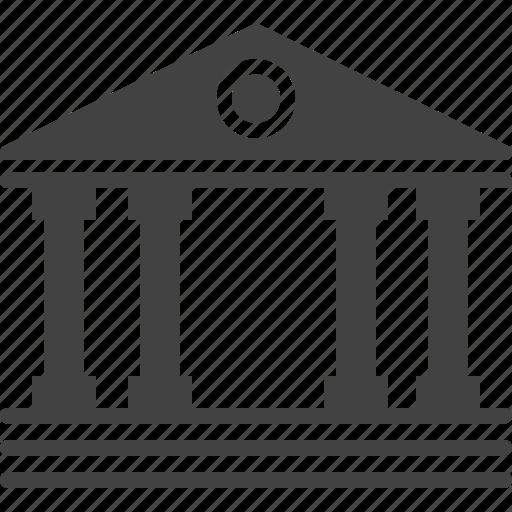 bank, banking, building, column, finance, forum, guarantor icon