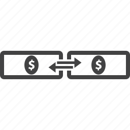 business transaction, currency, exchange, financial, money, payment, transfer icon