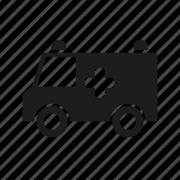 ambulance, car, healthcare, hospital, medical, medicine, van icon