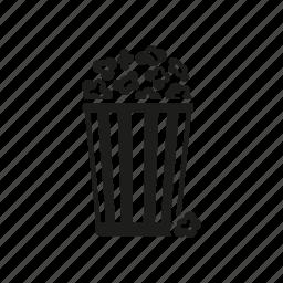 bucket, cinema, entertainment, food, movie, popcorn icon