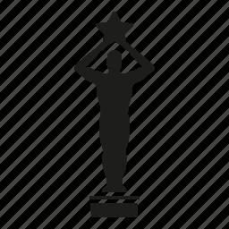 award, cinema, entertainment, movie, star, statue icon