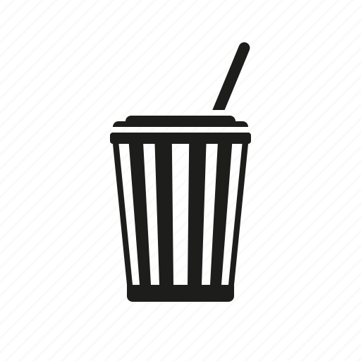bucket, cinema, cola, entertainment, lemonade, movie, soft drink icon