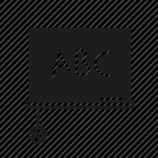 blackboard, chalkboard, classroom, education, grammar, school, sponge icon