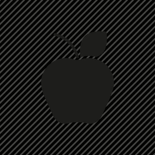 apple, break, education, food, healthy eating, school, snack icon