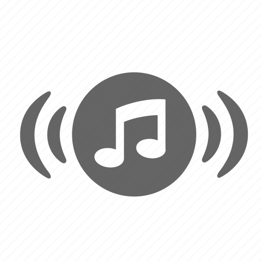 audio, broadcasting, loudness, music, note, sound, volume icon