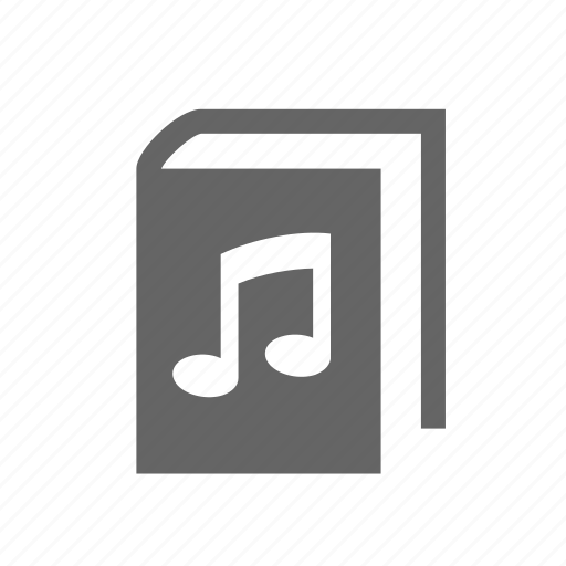 audio, book, entertainment, music, note, sound icon