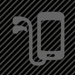 audio, handset, headphones, mobile, music, play, sound icon