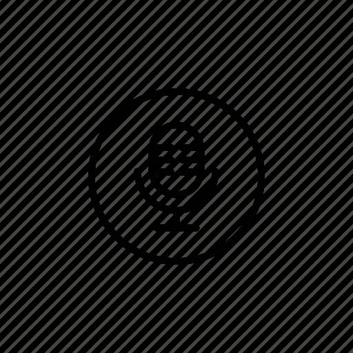 audio, mic, micro, sound icon