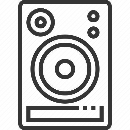 audio, equipment, monitor, music, sound, speaker icon