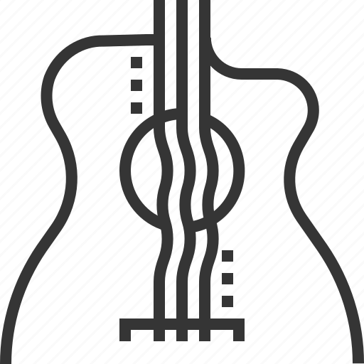 acustic, electro, guitar, instrument, music, play icon