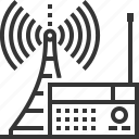broadcasting, internet, podcast, radio, radios, sq553, tower icon