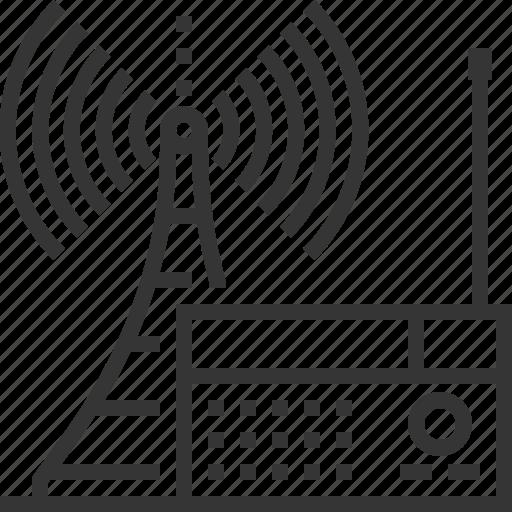 broadcasting, internet, podcast, radio, radios, sq553, tower icon