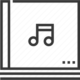 audio, compact, disc, library, music, playlist, sound icon