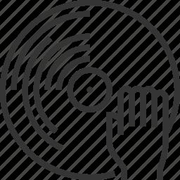 disc, hand, jockey, scratching, sq557, turntable icon