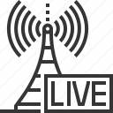 broadcasting, internet, live, on air, podcast, radio tower, radios icon