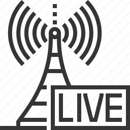 broadcasting, internet, live, on air, podcast, radio tower, radios icon