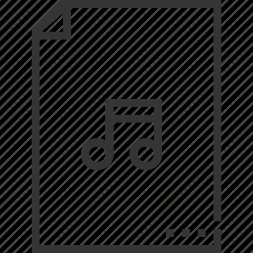 audio, document, file, music, sound, sq560 icon