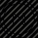 chevron, forward, next, player icon