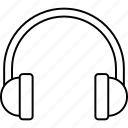 audio, headphone, music, technology icon