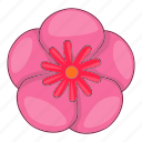 background, cartoon, decoration, flower, mugunghwa, rose, sharon icon
