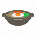 asian, bibimbap, cartoon, cooking, cuisine, dish, korean icon