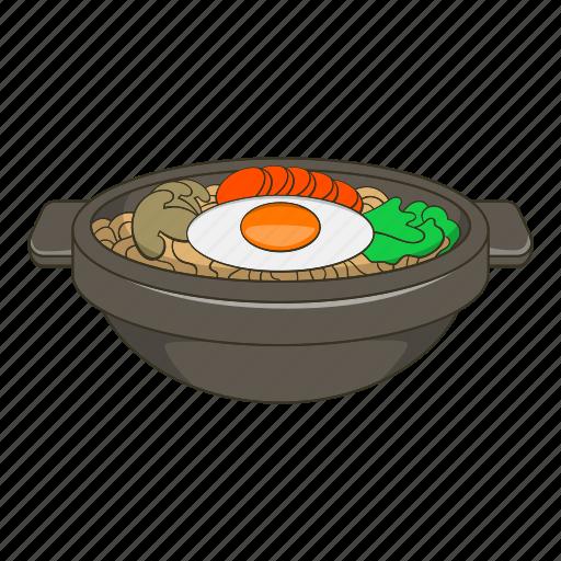 asian, bibimbap, cartoon, cooking, cuisine, dish, korean icon