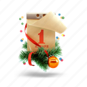 calendar, christmas, christmas toy, christmas tree, new year icon