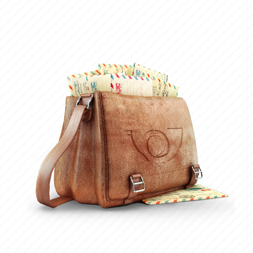 bag, letter, mail, postman icon
