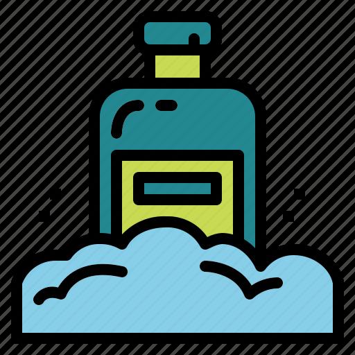 bathing, beauty, healthcare, shampoo icon