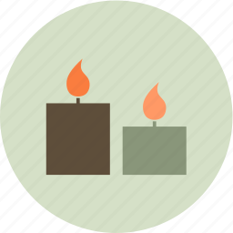 candle, fire, nature, relax, spa icon