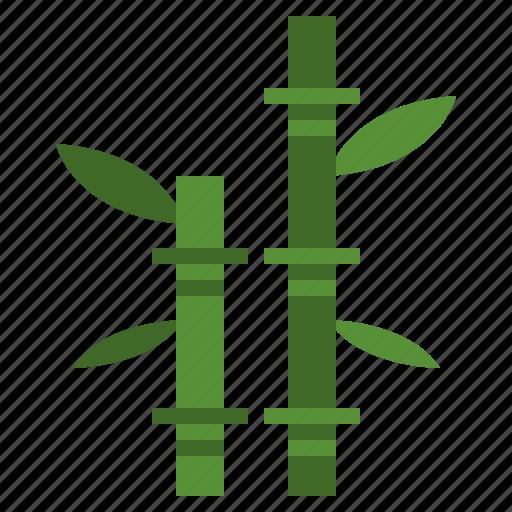 bamboo, botanical, japan, nature, plant icon