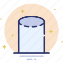 cylinder, design, shape icon