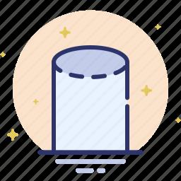 cylinder, design, shape icon