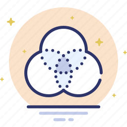circles, design, filter, intersection, overlay icon