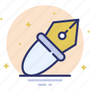 design, draw, pen, pen tool, write icon